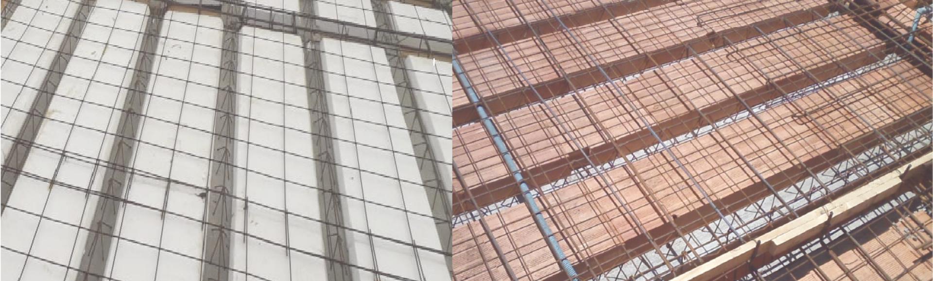 Laje Treliçada - Você pode usar com enchimento cerâmico ou EPS (isopor)