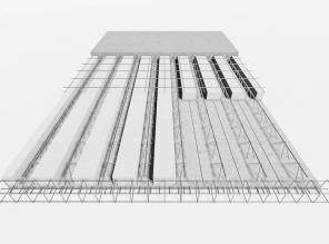 Laje treliçada painel (largura 25cm)